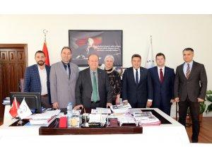 İnşaat Mühendisleri Odası yeni yönetiminden Başkan Özakcan'a ziyaret