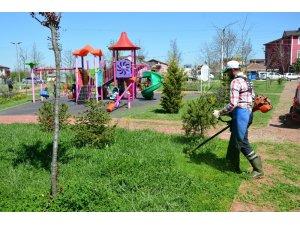Kartepe'de yeşil alanlara bahar bakımı