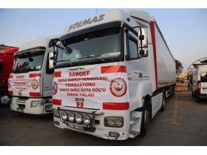 Bursa'dan Doğu Guta'ya 4 tır yardım malzemesi