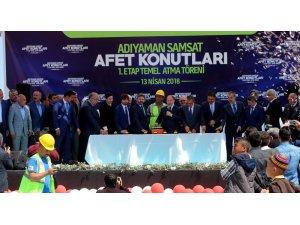 Başbakan Yardımcısı Akdağ depremzede konutlarının temelini attı