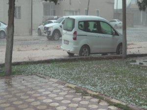 Mardin'de dolu yağışı