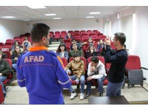 AFAD'dan engelli öğrencilere deprem eğitimi