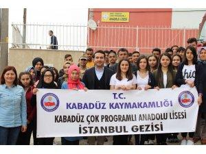 Kabadüzlü öğrenciler İstanbul gezisine gitti
