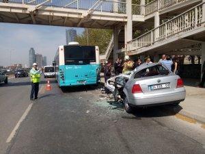 Kartal'da düğün konvoyunda kaza: 1 ölü, 1 yaralı