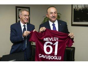 Bakan Çavuşoğlu, Trabzonspor Başkanı Ağaoğlu'nu kabul etti