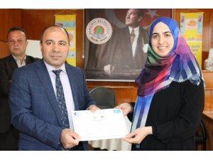 Alaçam'da girişimcilik kursu sertifika töreni