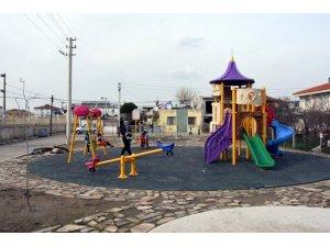 Modern oyun parkları çocukların neşesi oldu