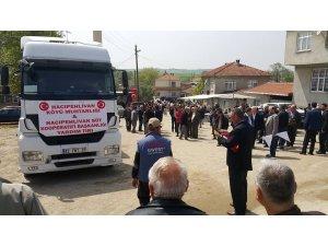 Biga'nın Hacıpehlivan köyünden Afrin'e yardım