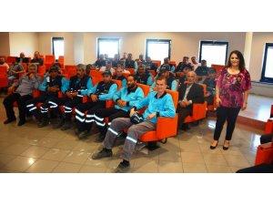 Belediye personeline kadına şiddet eğitimi