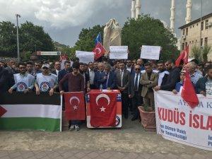 Iğdır'da İsrail protestosu