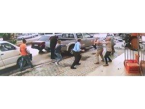 Kırıkkale'de silahlı kavga güvenlik kamerasında