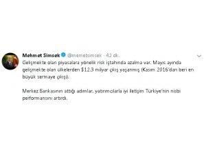 """Başbakan Yardımcısı Şimşek: """"TCMB'nin attığı adımlar Türkiye'nin nisbi performansını artırdı"""""""