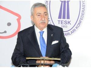 TESK Başkanı Palandöken güven tazeledi
