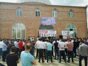 Gürcistan'dan Filistin'e destek gösterisi