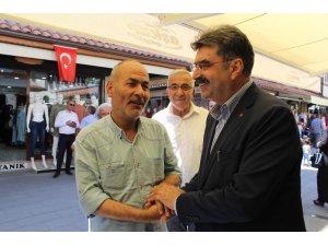 Milletvekili Adayı Orhan Erdem Bedesten esnafını ziyaret etti