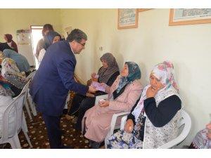 Başkan Can, mukabele programında kadınlarla bir araya geldi