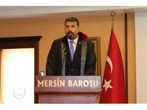 Mersin Barosu'nda yeni başkan Bilgin Yeşilboğaz