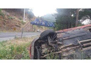 Otomobil takla attı:2'si çocuk 3 yaralı