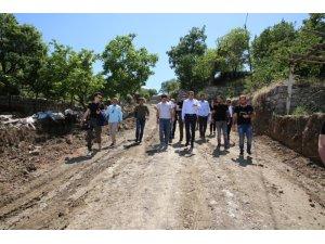 Başkan Bedirhanoğlu çalışmaları inceledi
