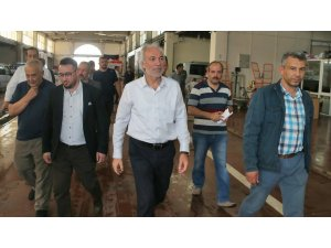 Başkan Saraçoğlu, hal esnafını ziyaret etti