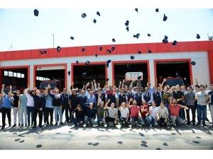 Geleceğin itfaiyecileri mezuniyet sevinci yaşadı