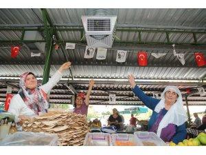 Mersin'de pazar yerlerine güneş enerjili soğutma