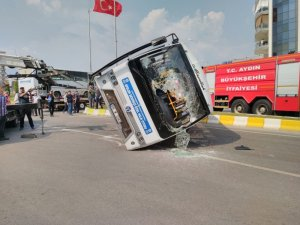 Aydın'da trafik kazası 12 yaralı
