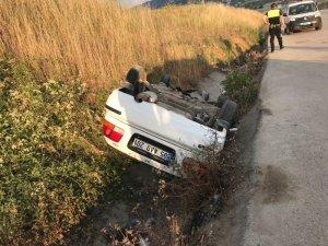 Samsun'da otomobil su kanalına devrildi: 1 yaralı