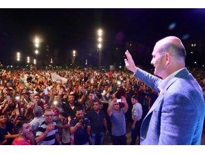 """İçişleri Bakanı Süleyman Soylu: """"3 kelimeyi bir araya getirip konuşamayacaksın AK Parti'ye iftira edeceksin her türlü yalanı söyleyeceksin sonra bu ülkeyi yönetmeye kalkacaksın, hadi oradan"""""""