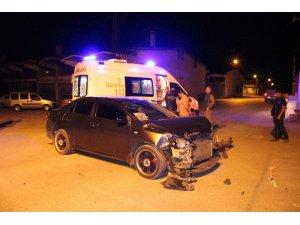 'Dur' ihtarına uymayınca polislere kaza yaptırdı