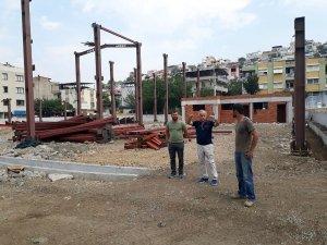 Nafiz Gürman Pazar Yeri inşası hızla devam ediyor