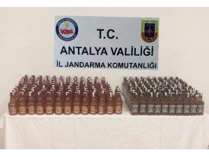 Antalya'da kaçak içki operasyonları