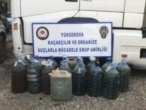 Hakkari'de 240 litre kaçak akaryakıt ele geçirildi
