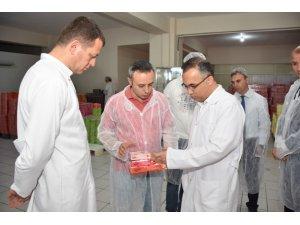 Vali Çeber, lokum üretim tesislerini inceledi