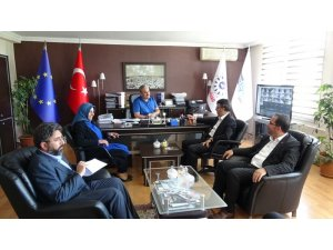 AK Parti yönetiminden VESOB ve İŞGEM'e ziyaret