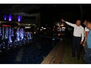 Başkan Vekili Aksoy, fıskiyeli havuzu inceledi