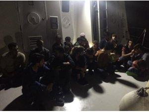 Güzelçamlı'da 11'i çocuk 22 kaçak göçmen yakalandı