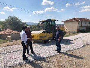 Altıntaş'ta köy yolu çalışmaları