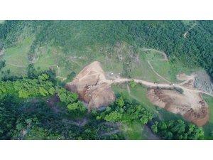 Çanakkale Güreci Göleti inşaat çalışmaları devam ediyor