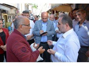 Murat Demir, İnebolu'da esnaf ziyaretinde bulundu
