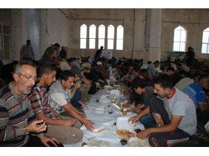 Halep'in sıfır noktasında toplu iftar
