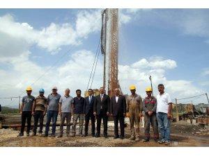 Elazığ'da, 45 derece sıcaklıkta jeotermal su fışkırdı