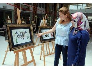 Erdemli'de kaligrafi sergisi açıldı