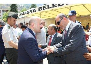Amasya'da yöneticilerle vatandaşlar bayramlaştı
