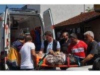 Yenice'de inşaatta onarım yapan işçi düşerek yaralandı