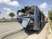 Ankara'da iki EGO otobüsünün çarpıştığı kaza