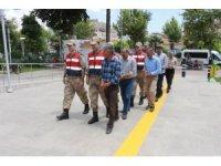 Terör operasyonuna gözaltına alınan 5 kişi adliyeye sevk edildi