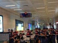 Yurt dışı seçmen kütüğüne kayıtlı mahkumlar Atatürk Havalimanı'nda oy kullandı