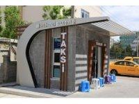Melikgazi'de taksi durakları inşaatları devam ediyor