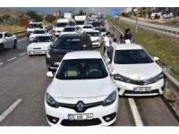 Kırıkkale'de 11 araç birbirine girdi: 11 yaralı